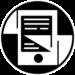 Logo de la collection Contes modernes composé d'une liseuse et d'un fond au design moderne.