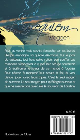 """4e de couverture de """"L'irrequiem"""", par Weggen, dessin de Clays, YBY Éditions."""