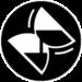 Logo de la collection Temps anciens composé d'un sablier penché sur le côté, comme agité, dont le sable s'écoule.